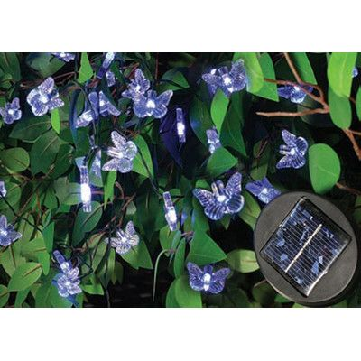 Creative Motion 40 Light Solar Light Chain Wayfair - $30 Outdoor