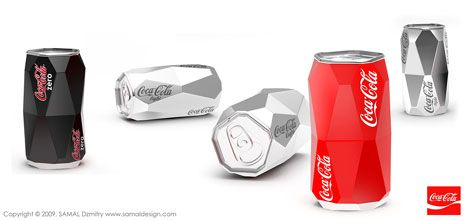 Cool new shapes for the traditional coke can design | funky bottle ...