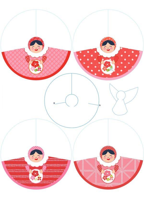 Angeles para Decoración, para Imprimir Gratis יצירה Pinterest - angels templates free