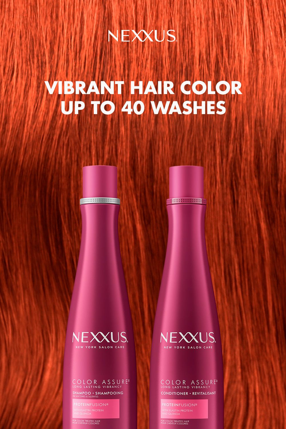 Keep your hair color vibrant with sulfate free Nexxus