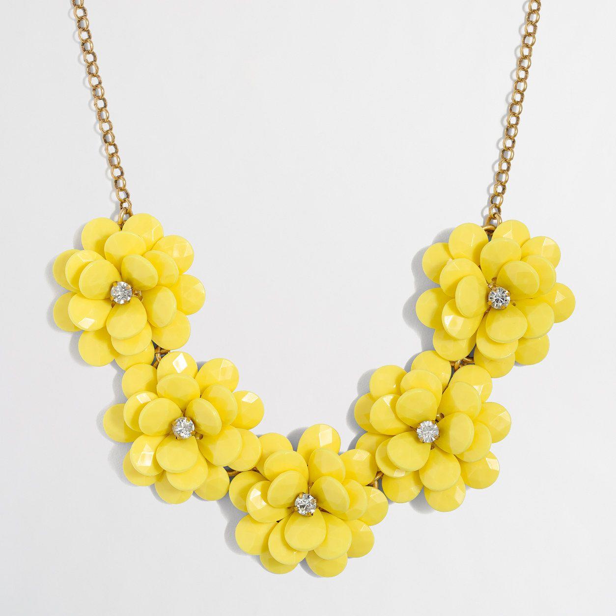 1fd39519396338 Factory crystal floral burst necklace : Necklaces | J.Crew Factory ...