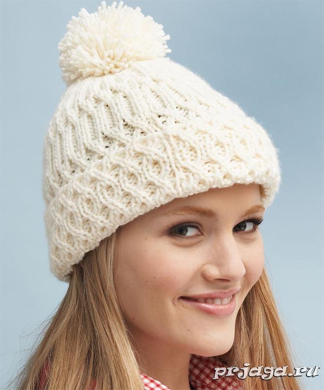 вязанные теплые шапки схемы