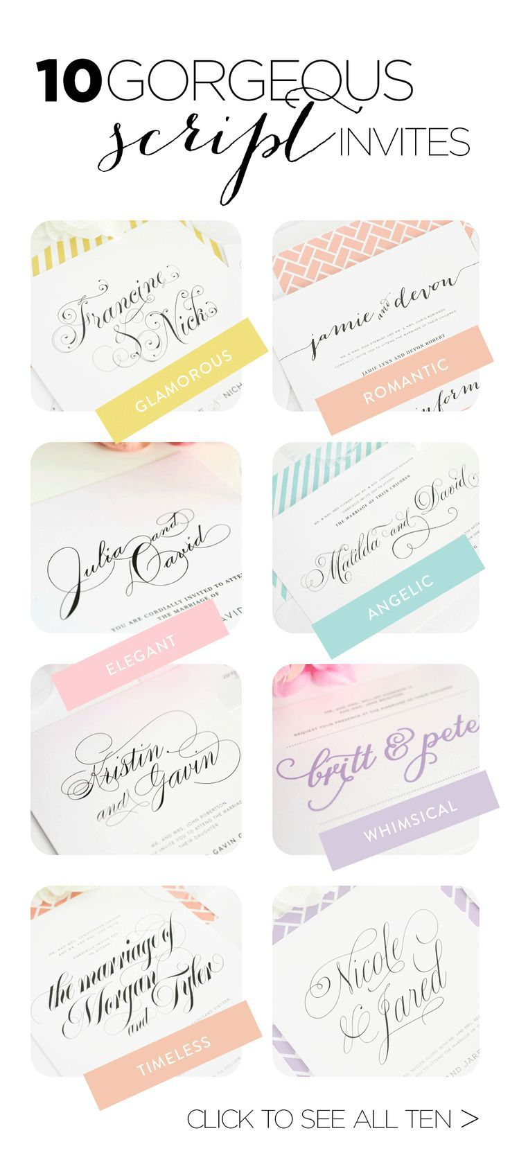Top 10 Wedding Invitations with Script | Weddings, Blog and Calligraphy