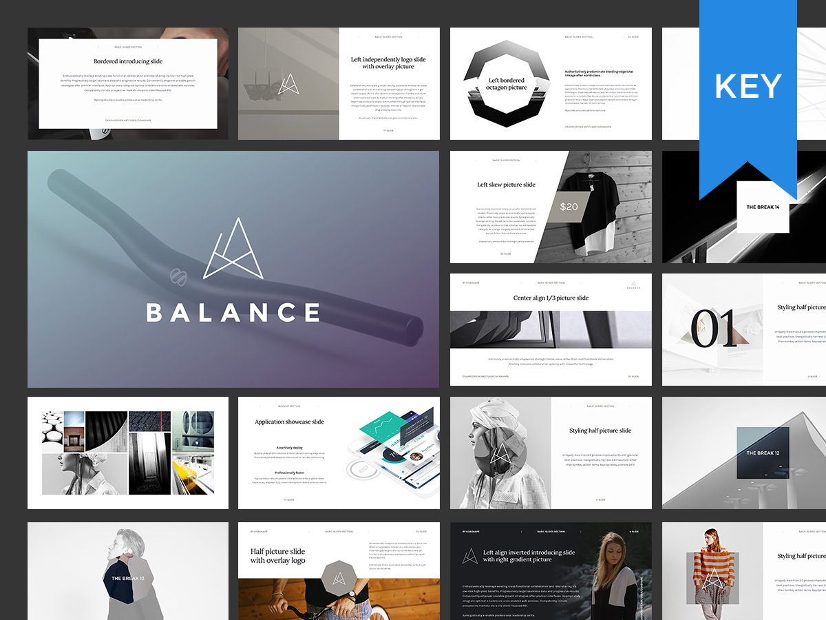 balance keynote presentation + bonusgoashape on, Presentation templates