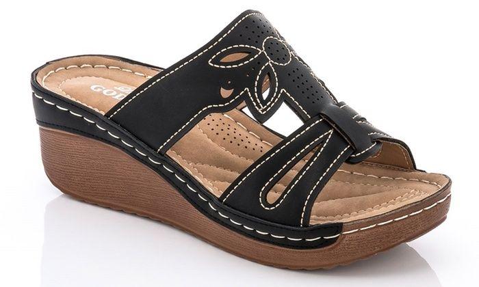 5946d334ec0a Lady Godiva Women s Slip-On Sandals  Lady Godiva Women s Slip-On Sandals