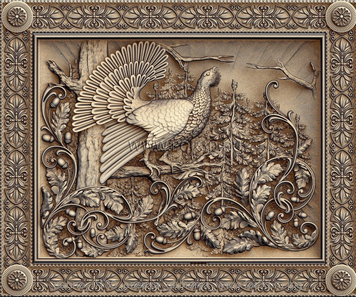 Great Wall CNC Router carving engraving relief model STL