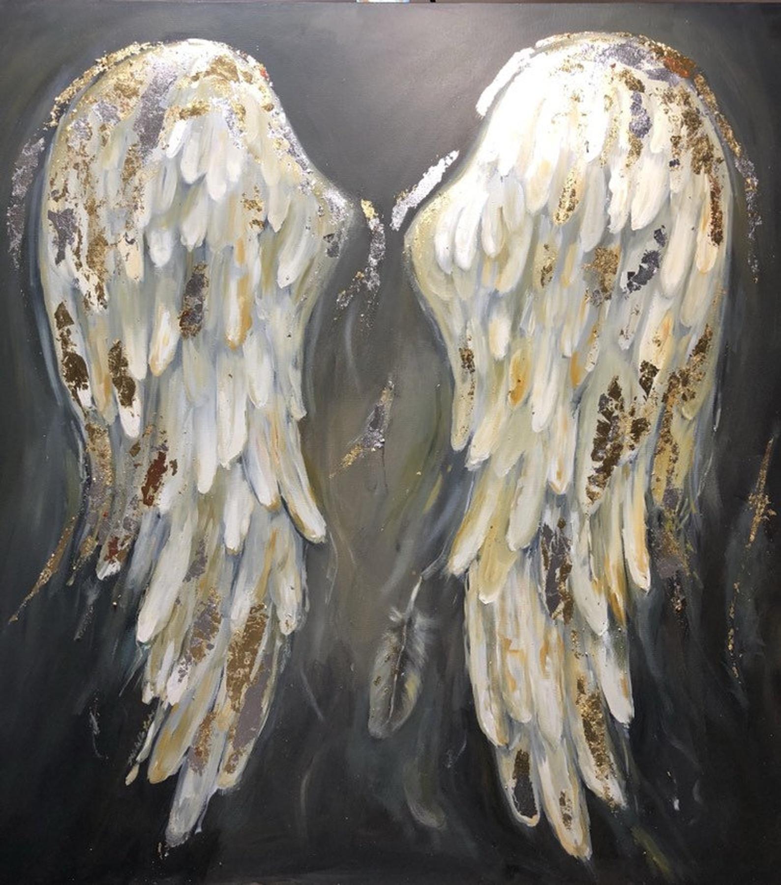 Angel wings painting huge angel wings painted just for