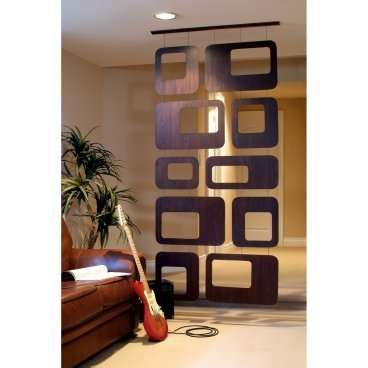 Sotto Hanging Room Divider Walnut Veneer Interior Room Dividers at