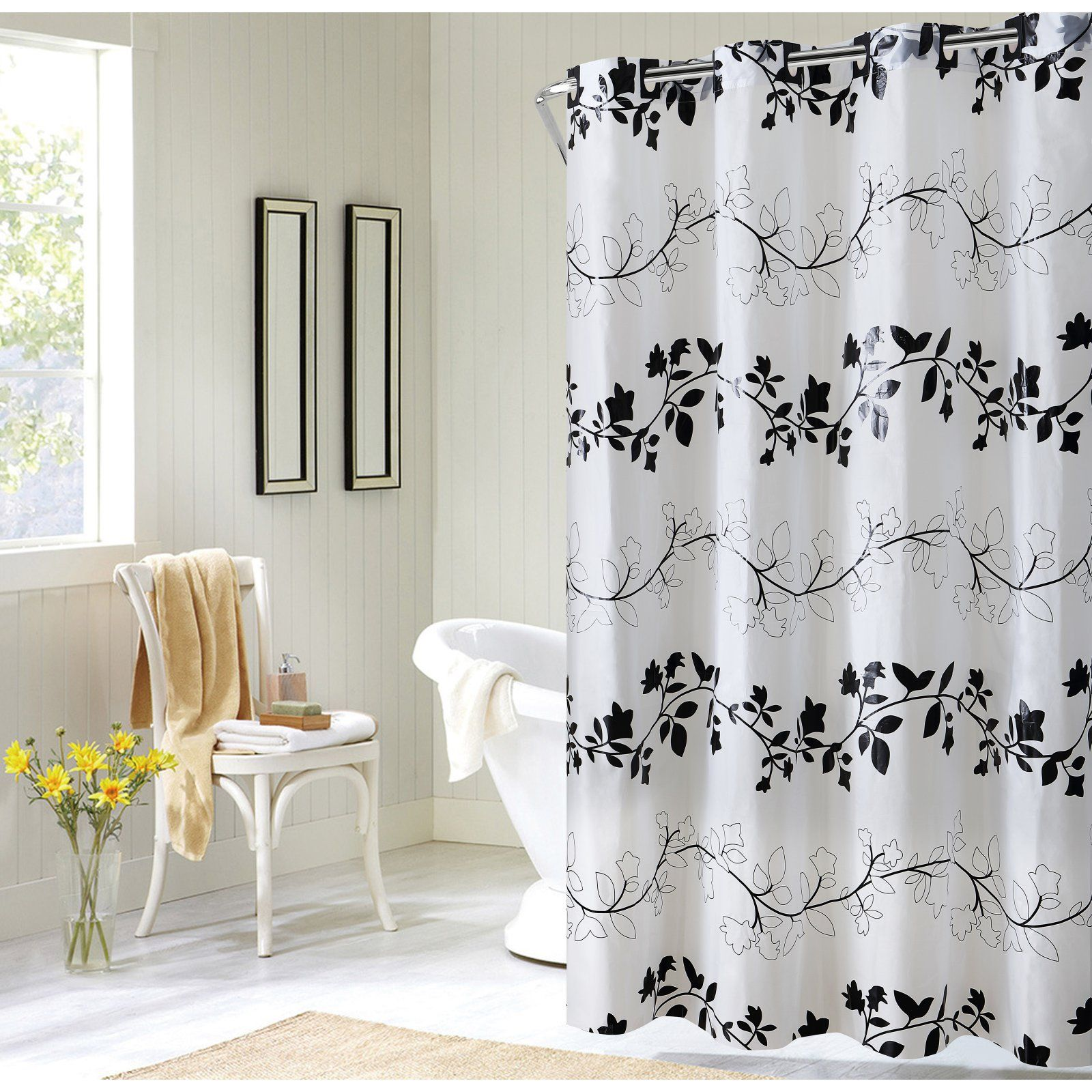 Ez On Floral Vine Shower Curtain Floral Shower Curtains Shower