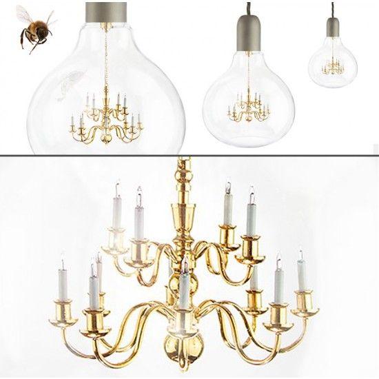 Mineheart King Edison Pendant Lamp   Gold Nice Look
