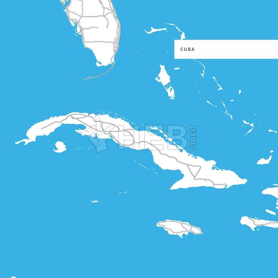 Map of Cuba Island #cubaisland
