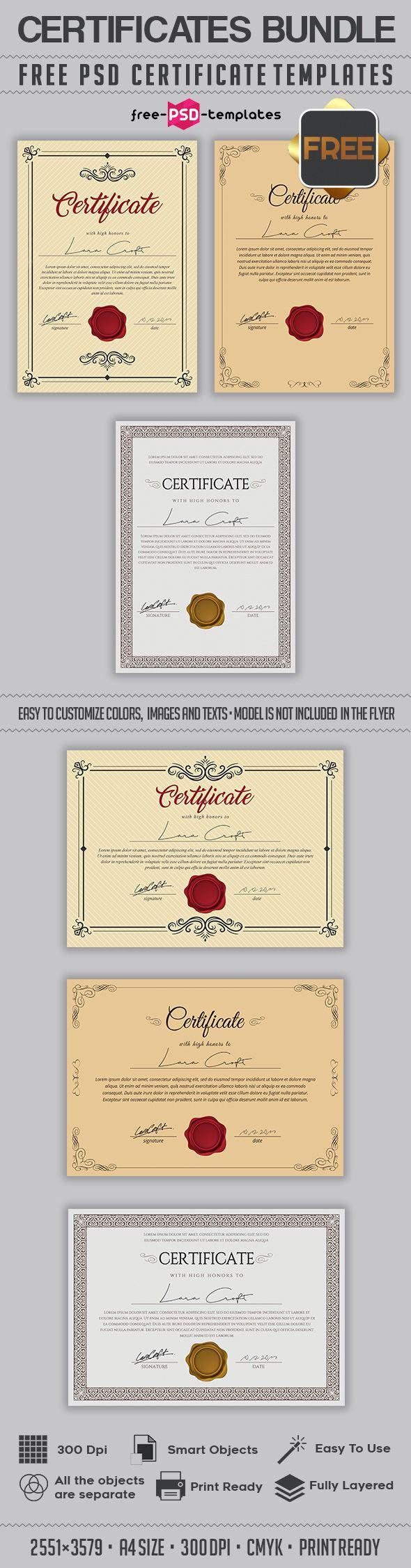 Free Psd Multipurpose Certificates Template 491 Mb Free Psd