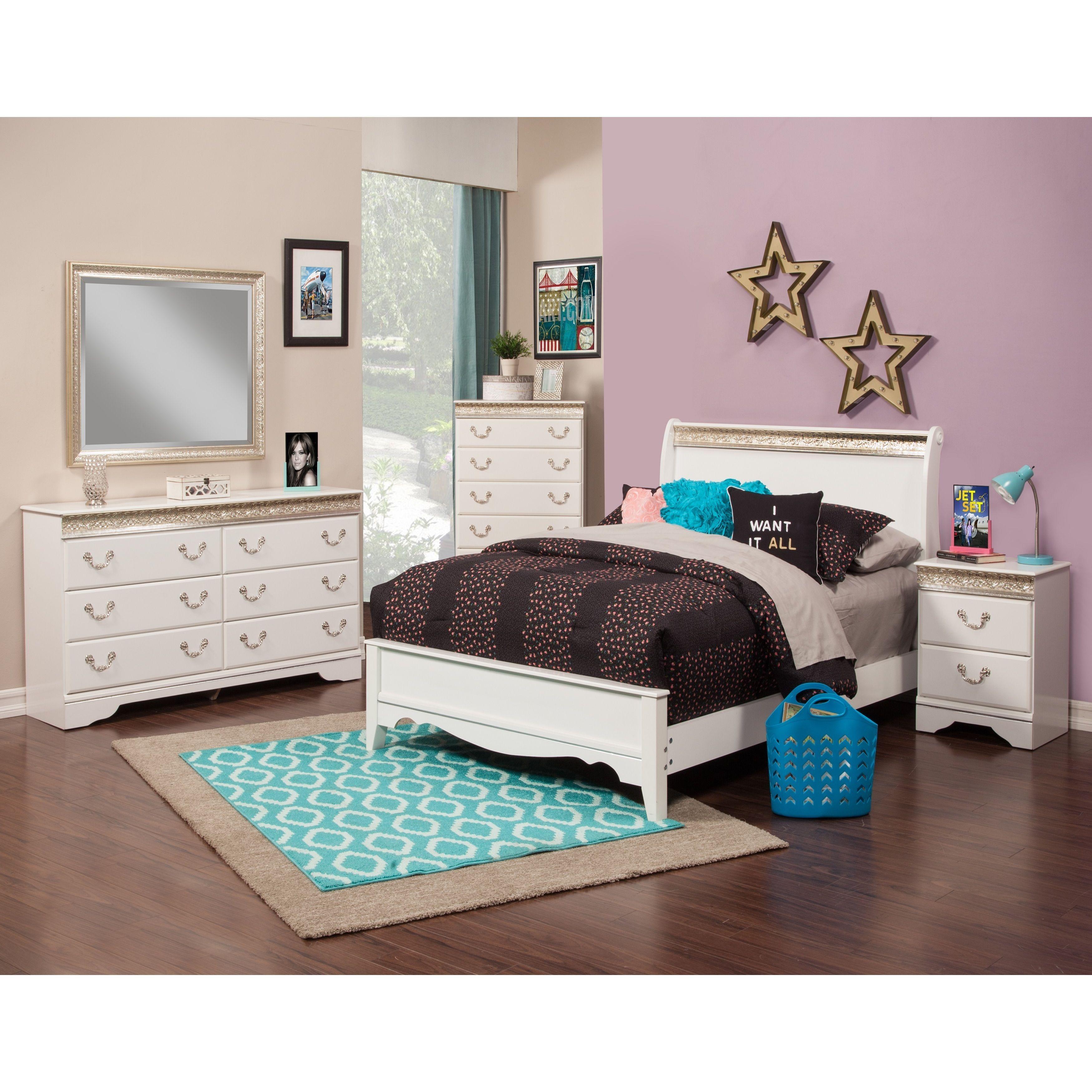 Sandberg Furniture Peyton Sleigh Bedroom Set (Peyton Queen Sleigh ...