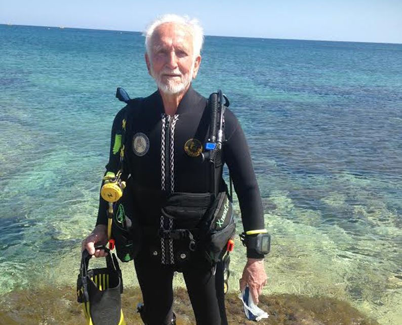 Great grandfather plans 29 dives to celebrate 92nd  birthday