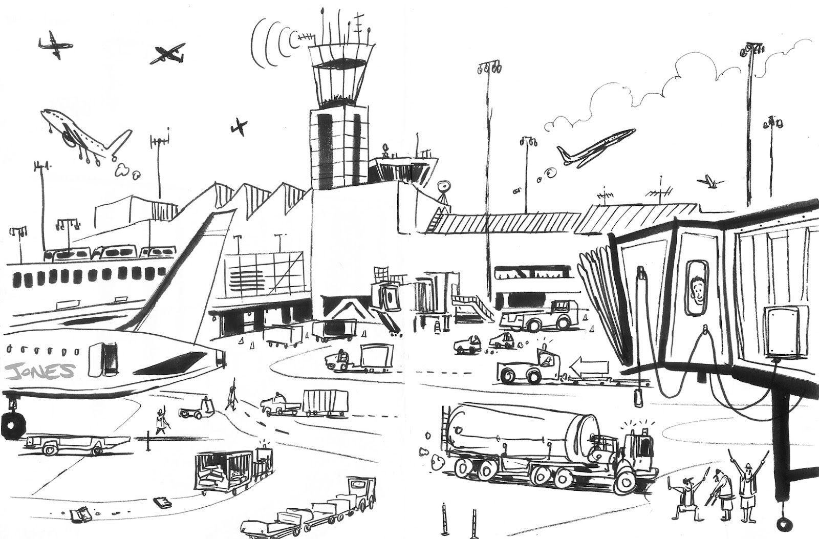 Drawing Of Airport