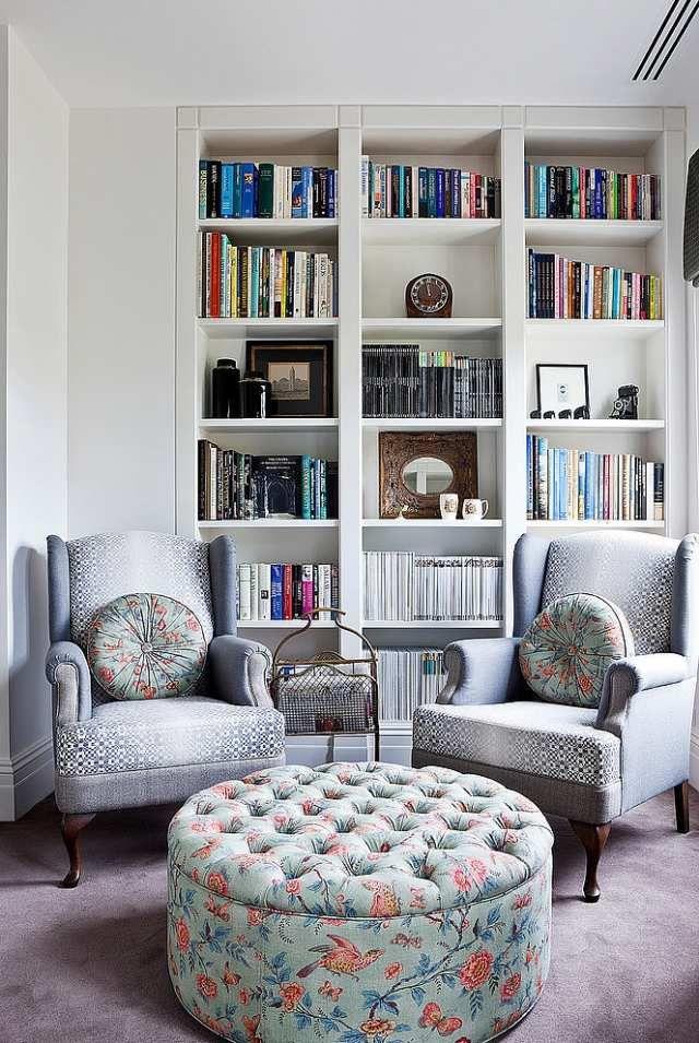 Platzsparende Hausbibliothek-Einbau-Bücherregale-Dekor Im