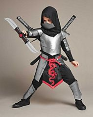 Kids Ninja Costume Halloween Costumes for Boys Ninja Toys with Ninja Foam Accessories 3-10 Year Old Boys Dress up Best Gifts
