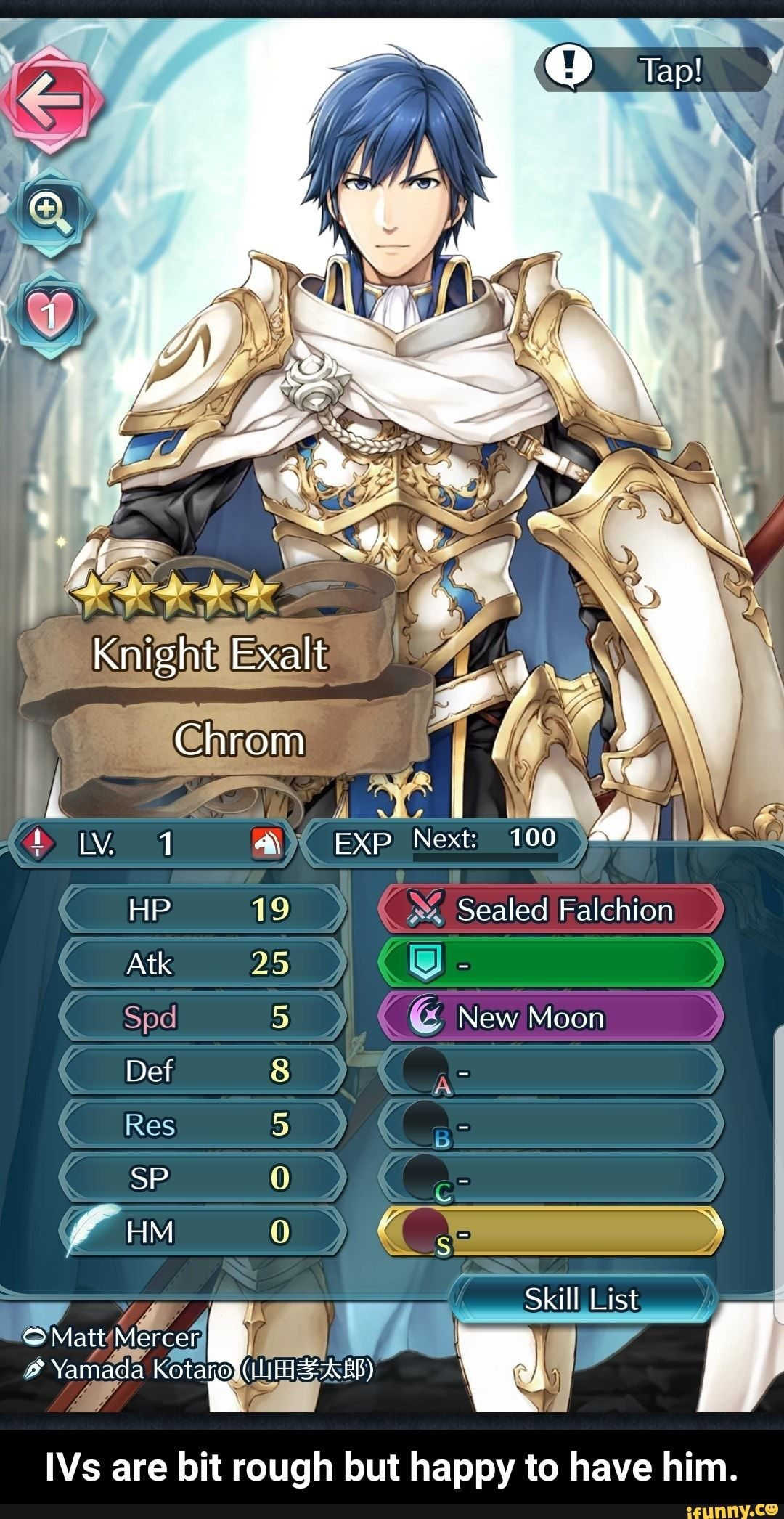 To Have Him G Ivs Are Bit Rough But Happy Ivs Are Bit Rough But Happy To Have Him Ifunny Fire Emblem Heroes Fire Emblem List Of Skills