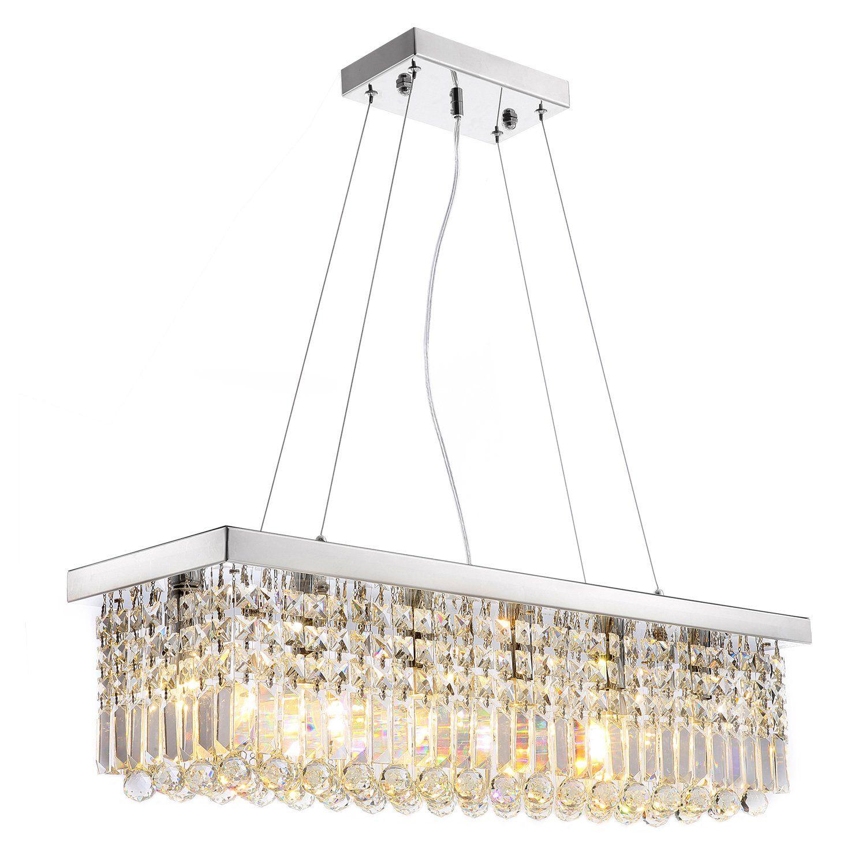 Rectangular Crystal Raindrop Chandelier Dining Room Rectangle