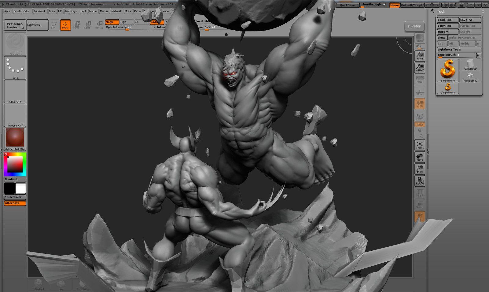 Hulk Vs Wolverine WIP ., Vijay Pratap Singh on ArtStation at https://www.artstation.com/artwork/JPKmn