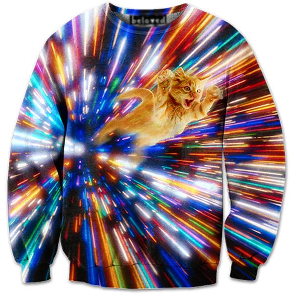 Beloved Shirts Lightning Cat Kids Hoodie