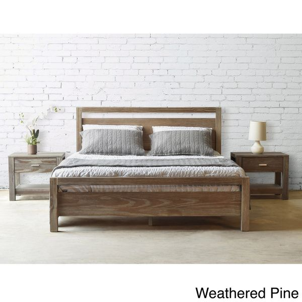 Discount Bedroom Furniture Stores: No Storage, But V Pretty! Grain Wood Furniture Loft Solid