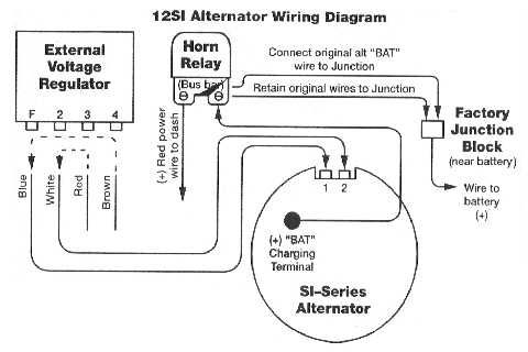 Internally-Regulated Alternator Relay Byp Diagram. | Car ... on