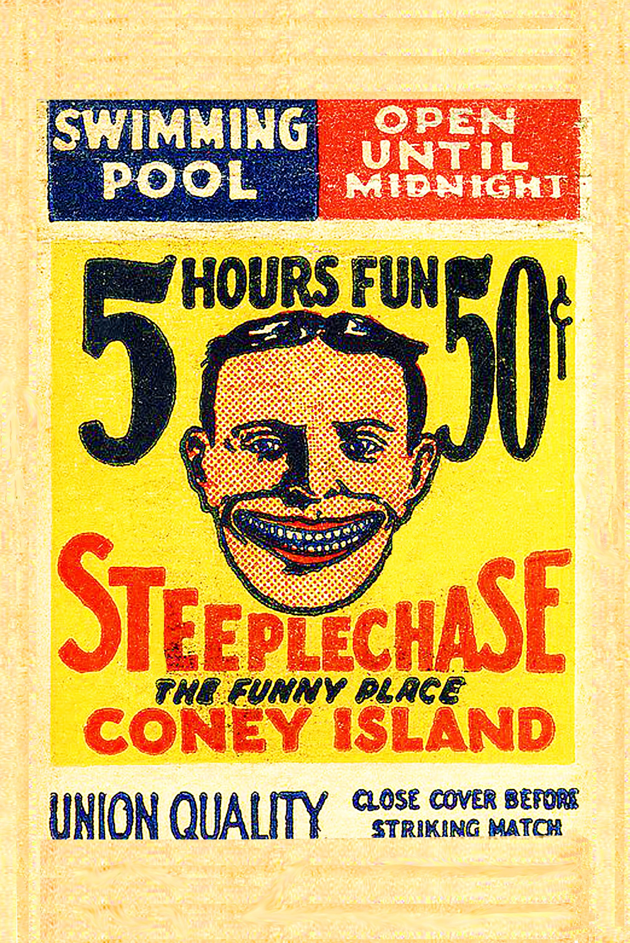 coney island NY New York New York vintage image wall art home decor ...