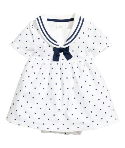 Sailor dress in soft organic cotton jersey with a printed pattern. Collar 03ee3f11395