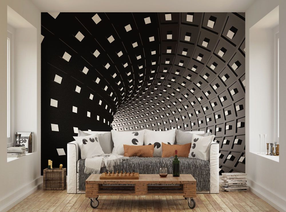 Ohpopsi Abstract Modern Infinity Tunnel Wall Mural Available In
