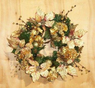 Beautiful wreath for gold Christmas decor