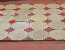 Cementine originali liberty vecchie di recupero tappeto completo