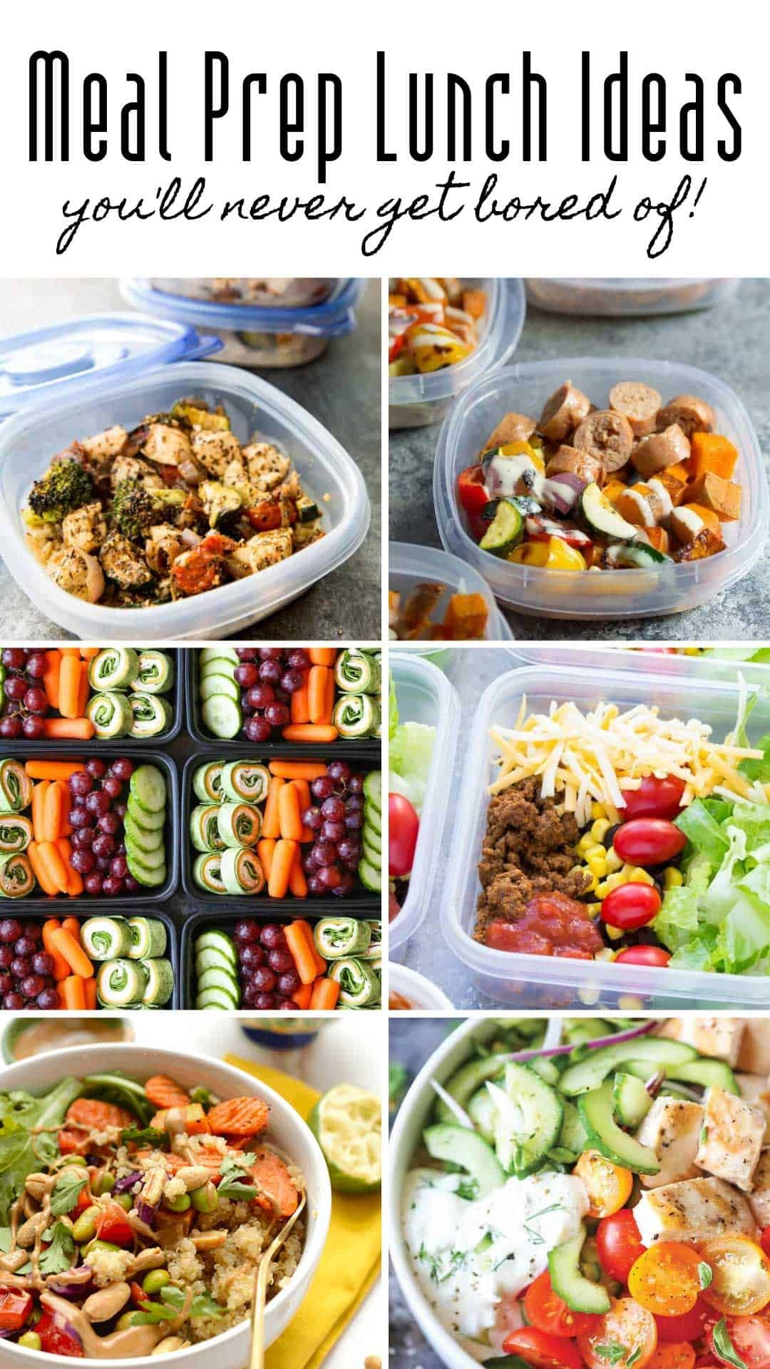 12 Meal Prep Lunch Ideas that Put Sandwiches to Shame! images