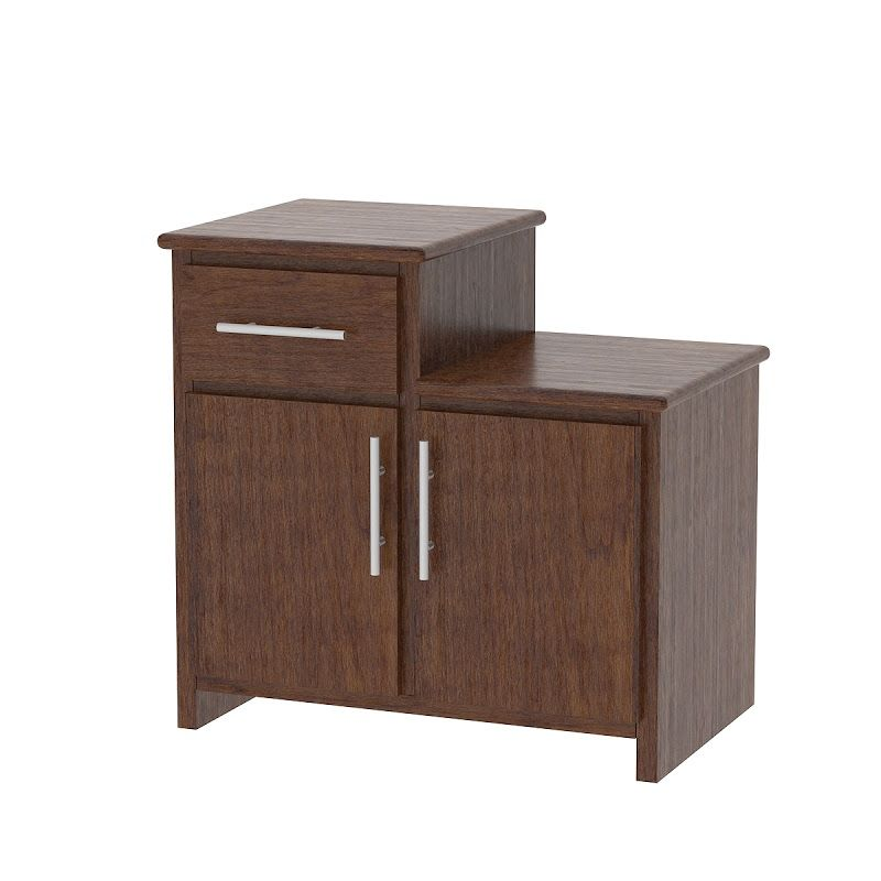 Waterfall Nightstand with Door Wild Cherry from Erik Organic
