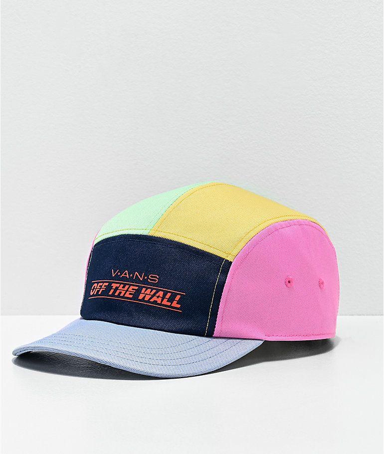 Vans Camper Colorblock 5 Panel Strapback Hat Zumiez Vans Hats Strapback Hats Vans