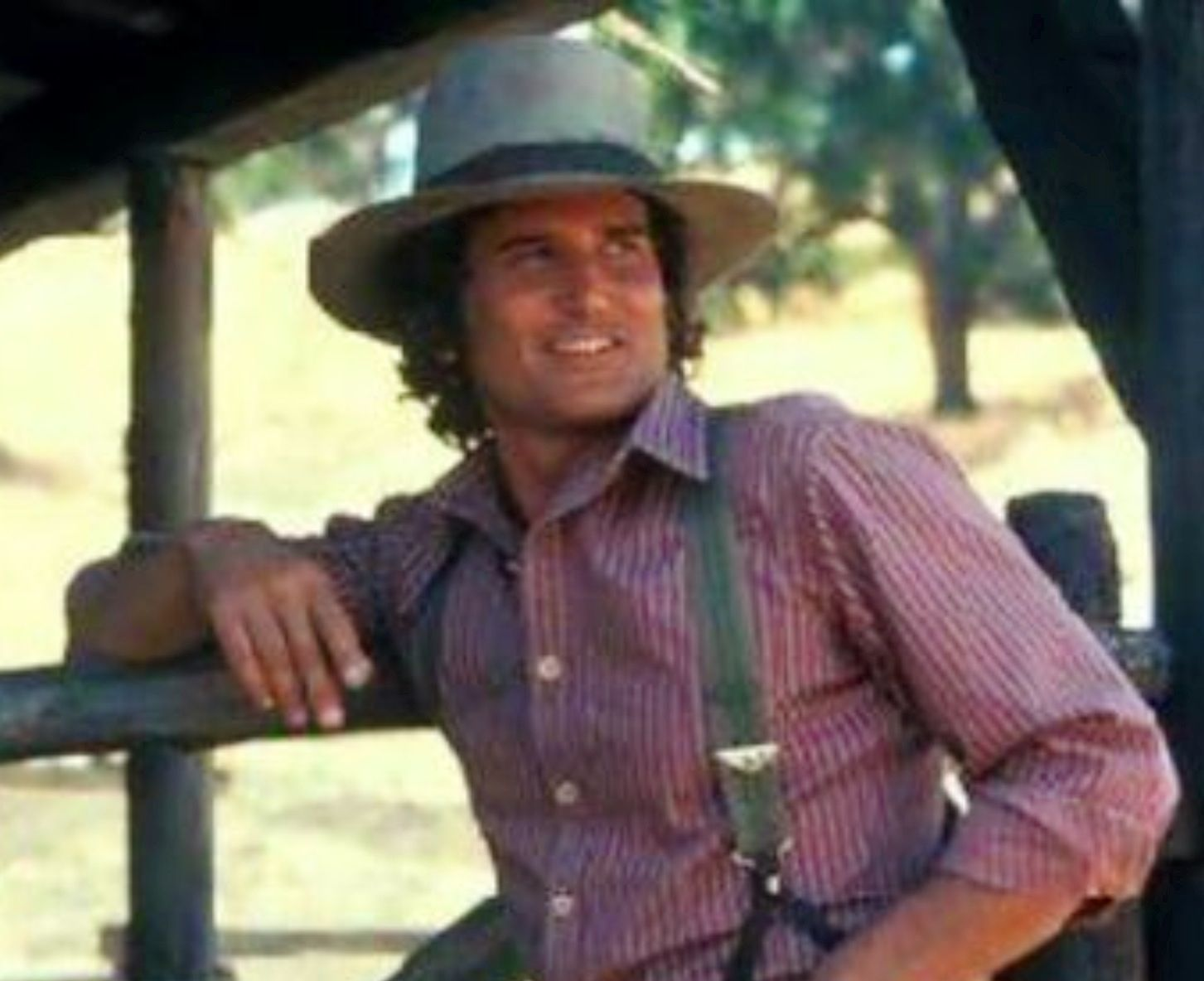 Micheal Landon aka Little Joe on Bonanza. But this is from Little house on the Prairie