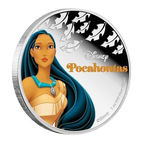 2016 Niue 1 oz Colorized Proof Silver $2 Disney Princess Tiana New Zealand Mint