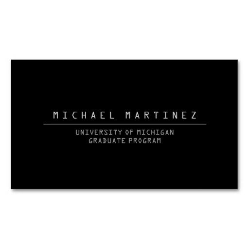 Universitycollege student black business card pinterest black universitycollege student black business card colourmoves