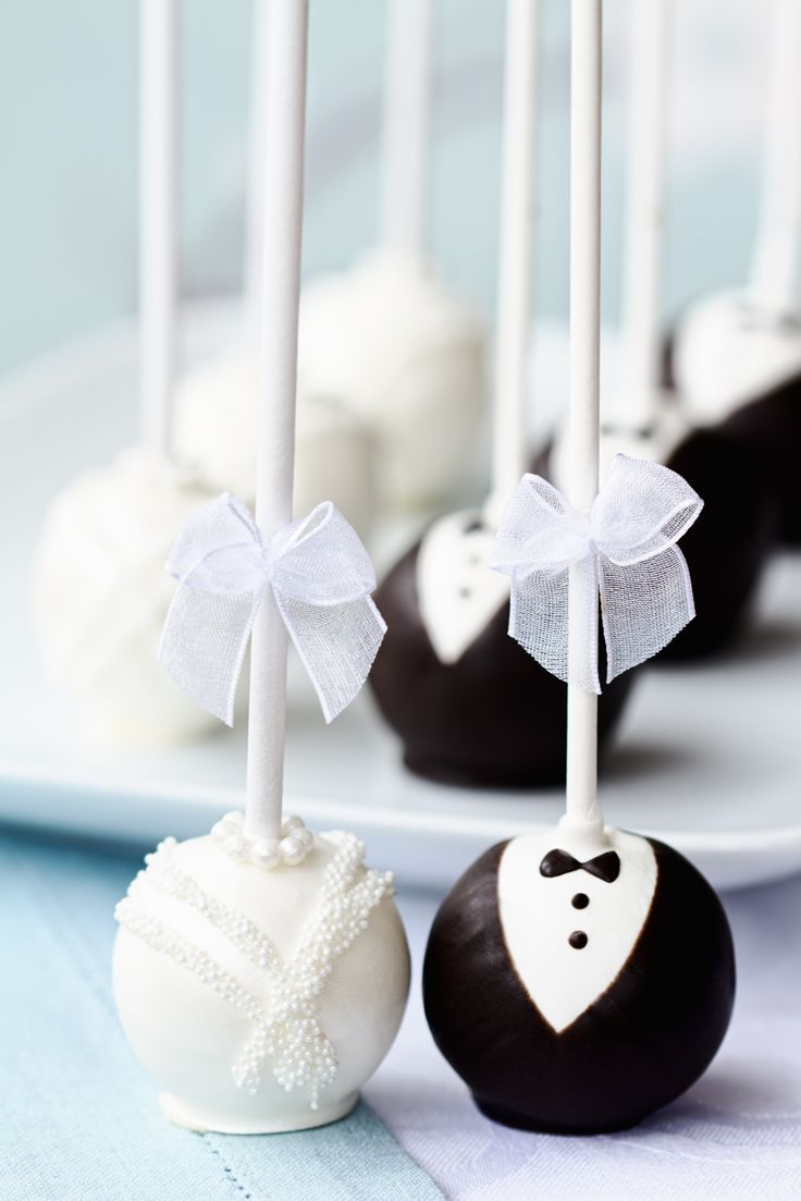 Wedding cake pops... This is adorable!