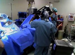 www.psavideo.com production activity - Getting the surgery shot at UCSD hospital in San Diego for the broadcast.