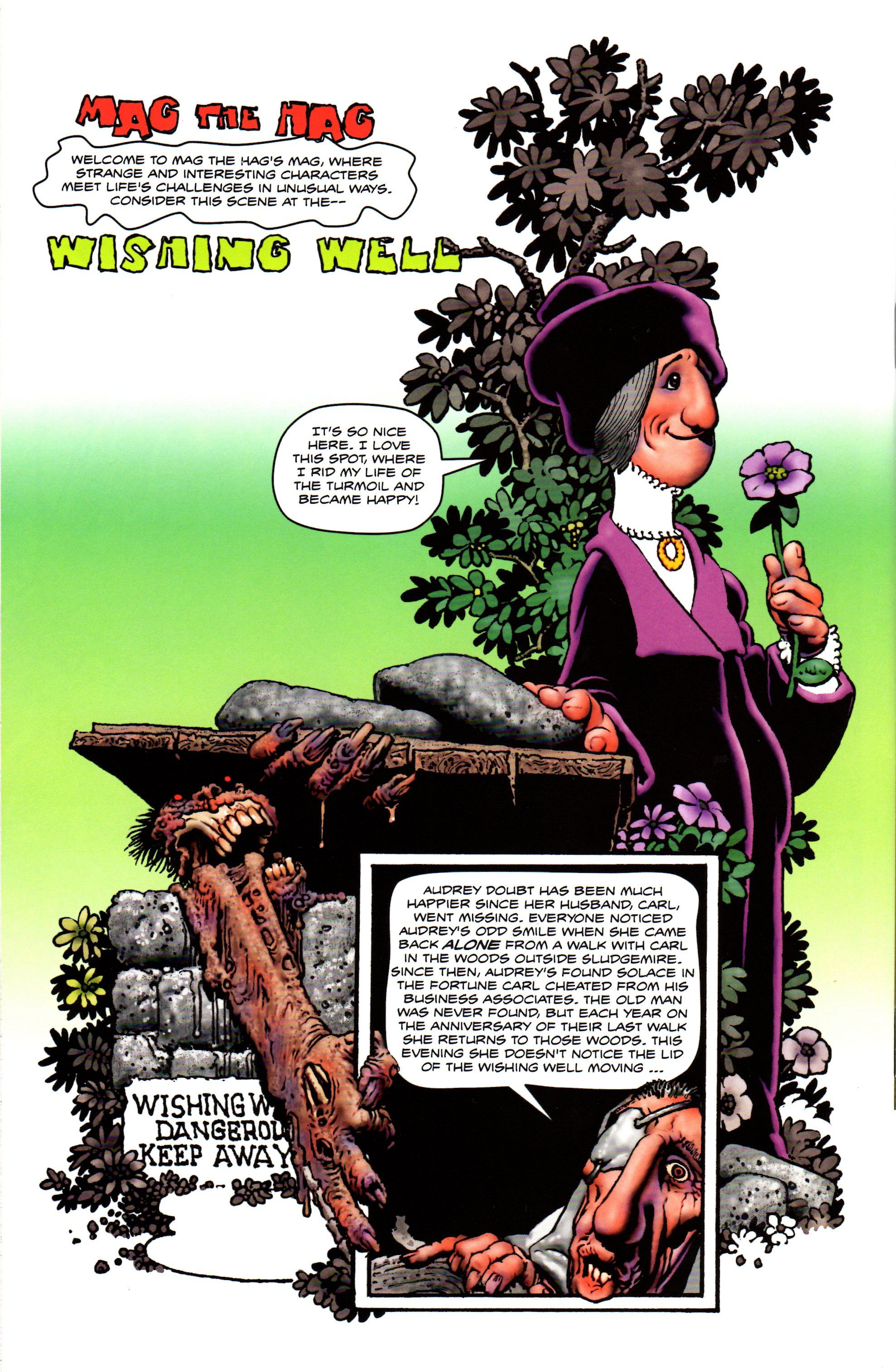 Richard Corben, Back cover of Shadows on the Grave No.3.