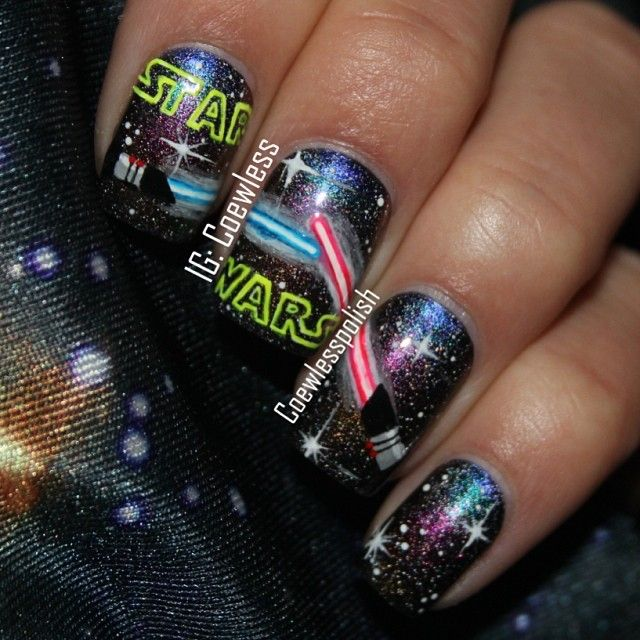 Star Wars Nail Art Ideas: Best Star Wars Inspired Nail Art Designs