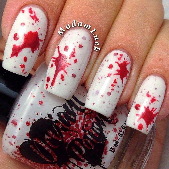 Nail Art Dan Extension Kuku: HALLOWEEN By Madamluck #nail #nails #nailart