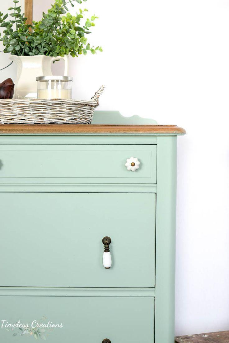 Aqua Painted Antique Dresser with Fusion Mineral Paint #homedecoration #homedecorations #homedecorationideas #homedecorationtrends #homedecorationincrochet