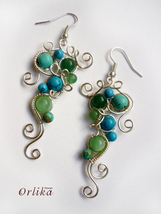 Photo of Ear pins, ear sweeps, ear vines Wire wrapped