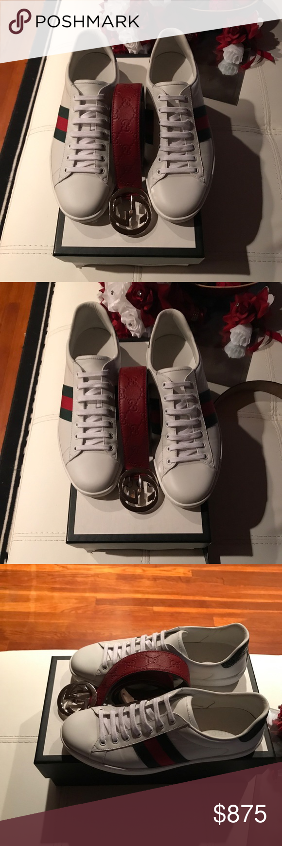 4350cd622 Mens Gucci Shoes & Belt Mens Gucci Shoes US 11 (G 10) Mens Gucci ...