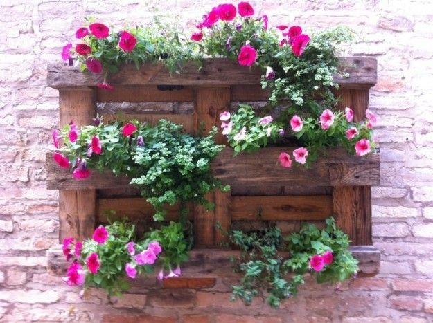 Pallet fioriera cerca con google appendere vasi for Arredare con fiori finti