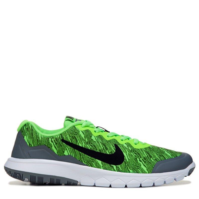 Nike Kids' Flex Experience 4 Running Shoe Grade School Shoes (Volt/Grey)