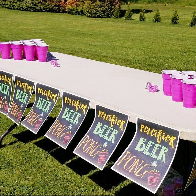 Baby Shower Paci Beer Pong Sign  8x10 Printable  DIY Printing INSTANT DOWNLOAD