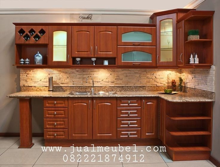 Desain Kitchen Set Jati Minimalis Harga Murah Interior Dapur Dapur Rustic Dapur Kecil